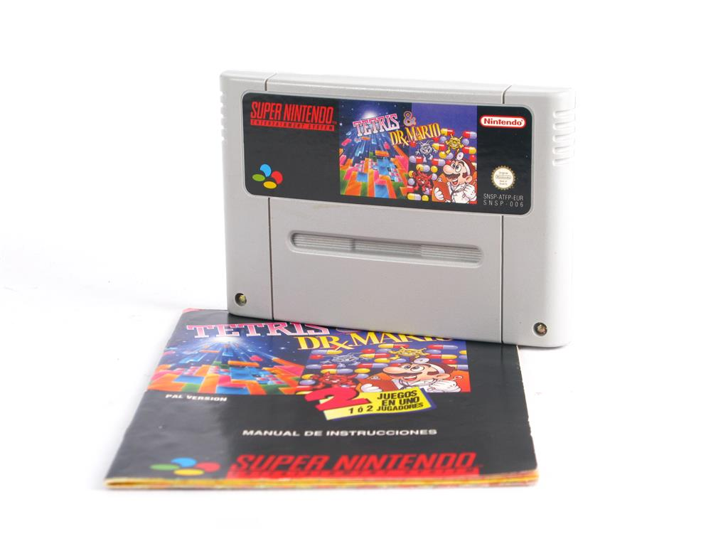 Juegos Vintage Tetris Dr Mario Snes 10 00 Segunda Mano Gijon E46712 0