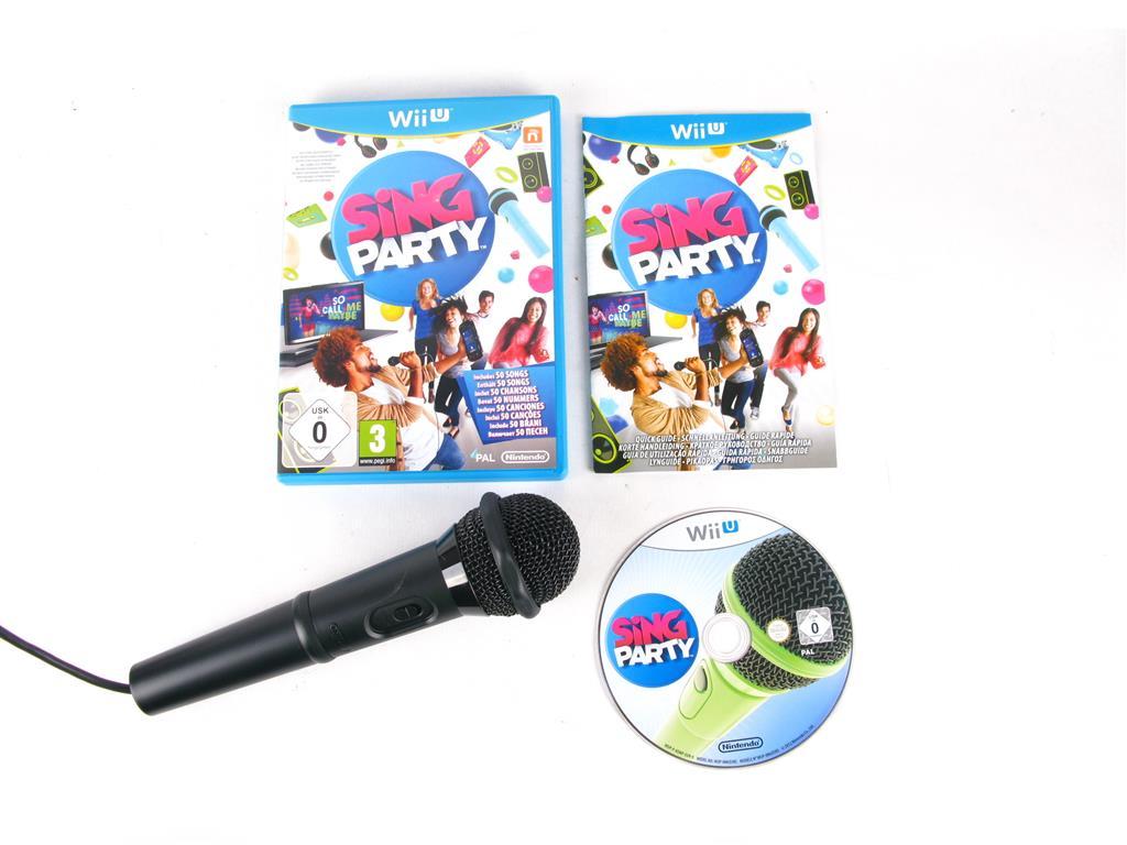 Nintendo Wii U Juegos Sing Party Con Microfono 12 00 Segunda Mano